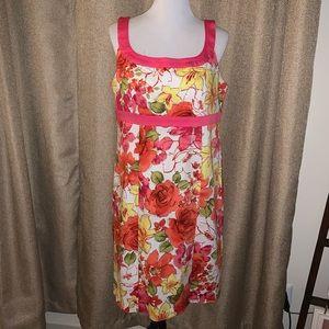 EUC Sag Harbor Floral Dress